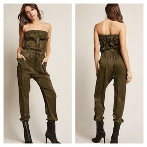 Satin Tube Jumpsuit